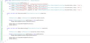 web.config feature